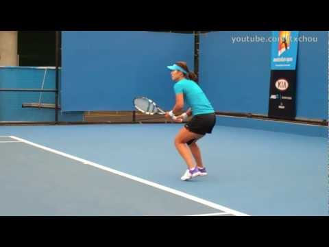 Li Na - Forehands in Slow Motion (HD)