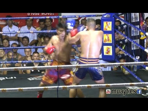 Boxing vs Muay Thai Fight - Somrak vs Yodwanpadet, Rajadamnern Stadium Bangkok - 2nd April 2015