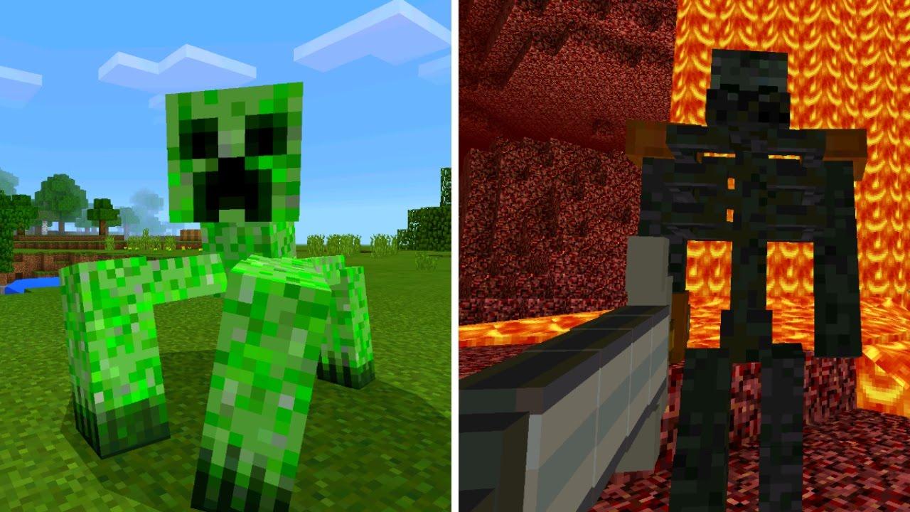 New Mutant Mobs in Minecraft Pocket Edition (Mutant Creatures Addon)