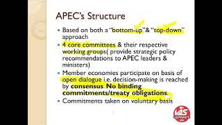 APEC(ASIA-PACIFIC ECONOMIC COOPERATION)
