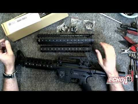 How to install a MadBull Daniel Defense M4 RIS II on my Echo1