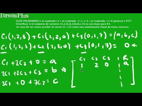 Problemas de conjuntos generadores y bases parte 1a