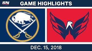 NHL Highlights   Sabres vs. Capitals - Dec 15, 2018
