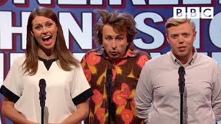 Unlikely things to hear over a tannoy - Mock the Week: Series 14 Episode 2 Preview - BBC Two