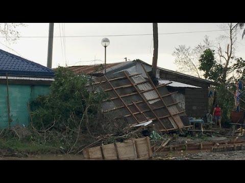 Typhoon Haima hits the Philippines