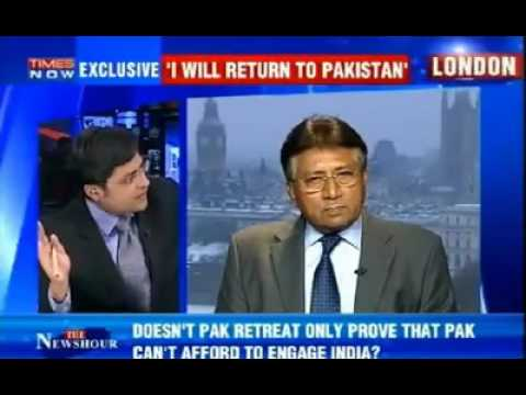 The great General Pervez Musharraf defending Pakistan on Indian media.
