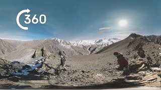 Searching For Snow Leopards | Behind the Scenes 360° | Planet Earth II