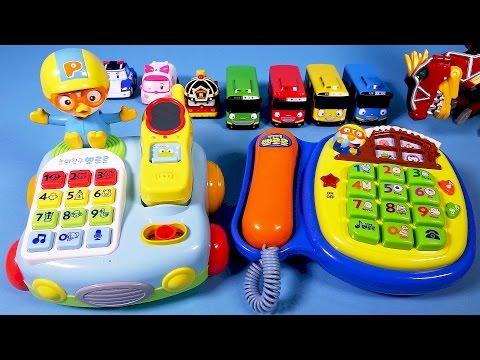 뽀로로 전화기 Pororo 타요 로보카폴리 파워레인저 다이노포스 또봇 뽀로로4기 Pororo Telephone Toys video