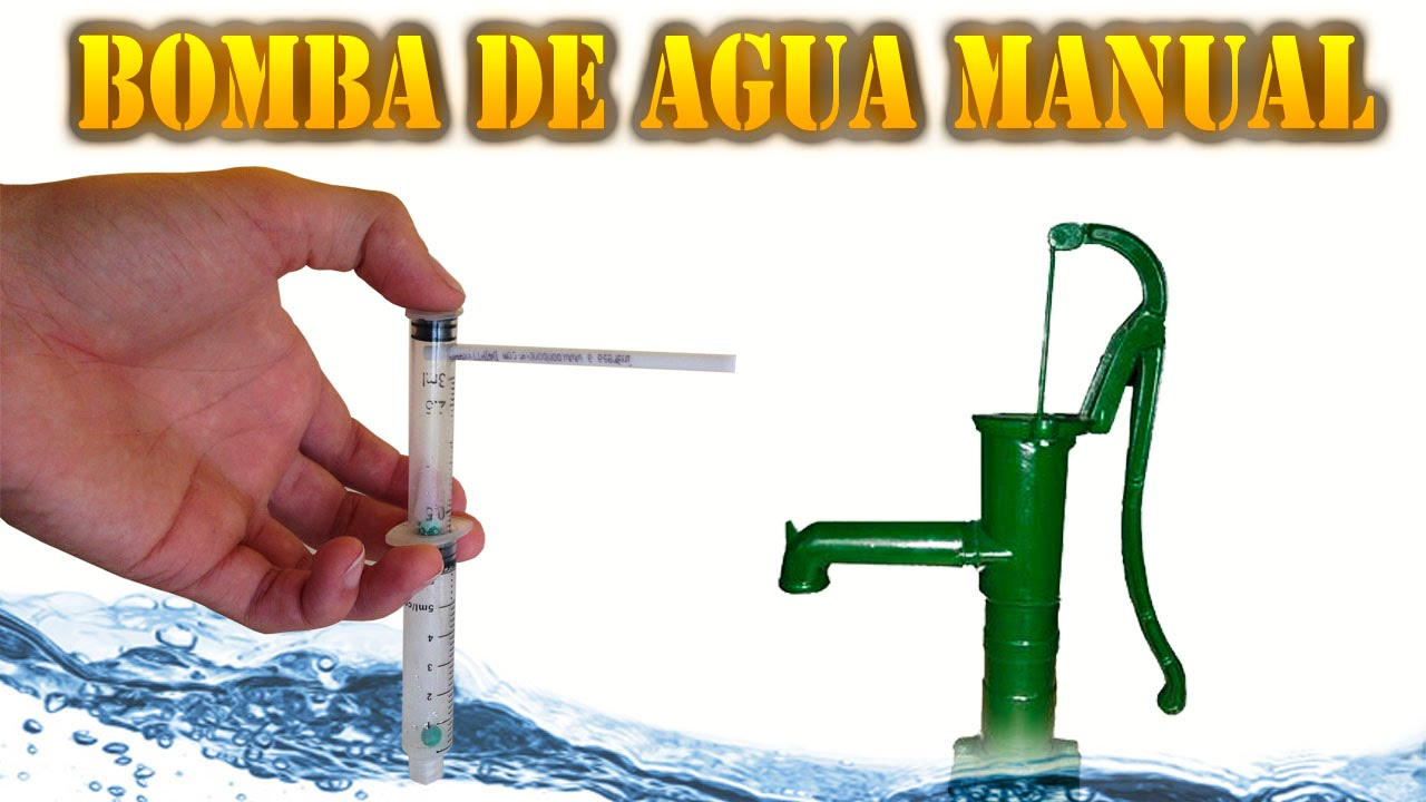 Como hacer una pistola de agua o bomba de agua manual muy - Bomba para sacar agua ...