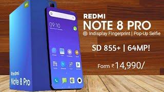 Redmi Note 8 Pro - Snapdragon 855+, 64MP Camera, Indisplay Fingerprint   Redmi Note 8 Pro
