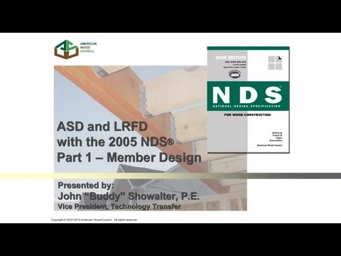 2005 Nds For Wood Construction Asd Lrfd Part I Member