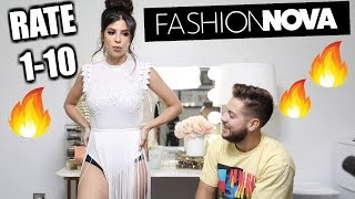 MY HUSBAND RATES MY FASHION NOVA OUTFITS 2019! | LAURA LEE