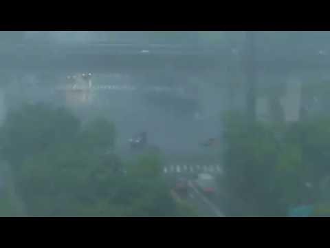 Typhoon Meranti wreaking havoc - Kaohsiung City, Taiwan