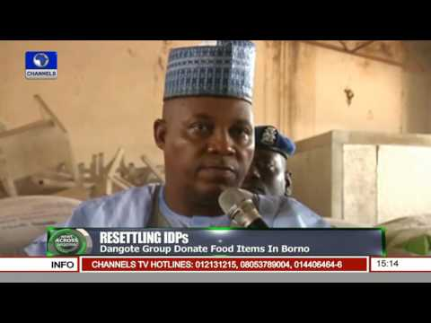 News Across Nigeria: Dangote Group Donate Food Items In Borno