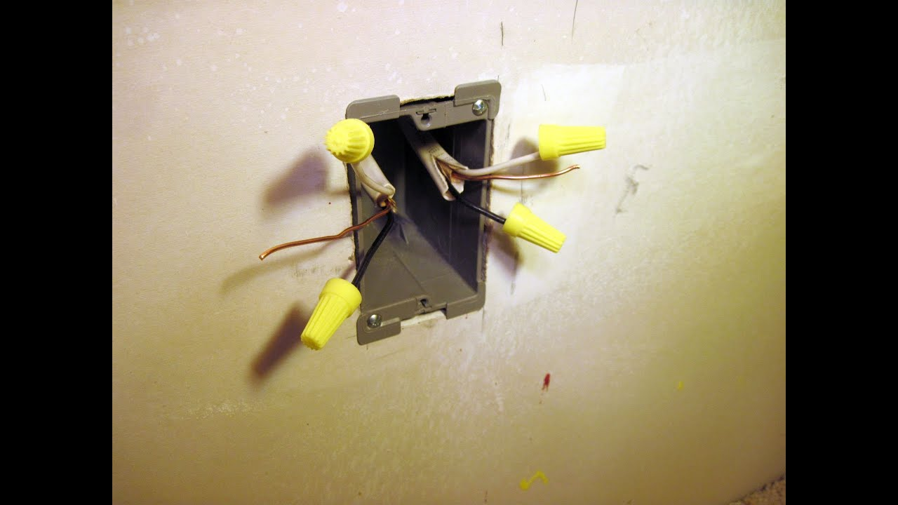 How To Install A Drywall Electrical Box Youtube