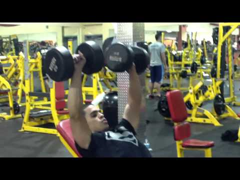 Chest triceps workout routine weight training Image 1