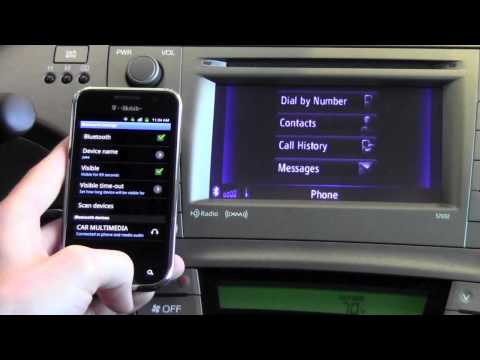 2012 Toyota Prius Pair Phone With Bluetooth How To By
