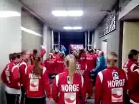 Rukomet Srbija-Norveska zene 18.12.2013.- UZ CECINU PESMU NA TEREN