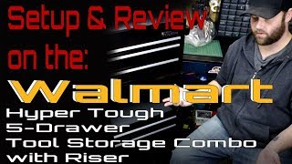 Hyper Tough 5-Drawer Tool Storage Combo with Riser Setup & Review