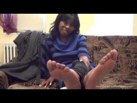Footjob Audition Ebony Soles video
