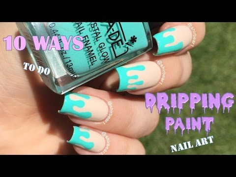 Neon Dripping Paint Nail Art Tutorial How To Save Money