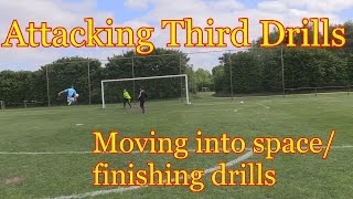 Attacking Third Movement & Finishing Soccer Drills