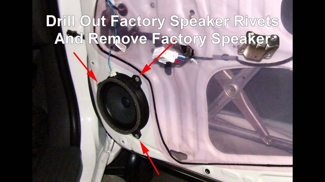 How To Install Front Door Speakers In A Toyota Hilux Youtube