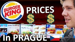 FOOD PRICES IN PRAGUE 2019 (BURGER KING PRICES IN PRAGUE, CZECH REPUBLIC) - CITY VLOG