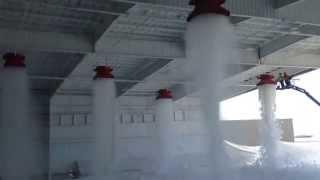 Aloha Air Cargo Hangar Foam Fire Suppression Test