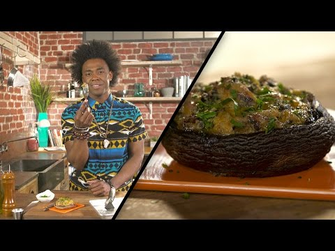 Jalapeño & Cheese stuffed Portobello Mushrooms | Lazarus Lynch