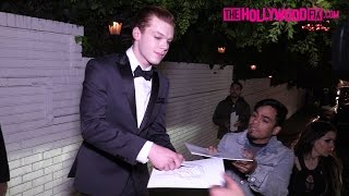 Cameron Monaghan Draws The Joker For Fans While Leaving The GQ Men Of The Year Party 12.8.16