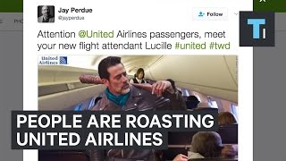 People are roasting United Airlines after a passenger was dragged off a plane