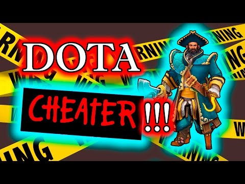 Dota 2 Cheater - Kunkka using Rapier Hack + Camera cheat!