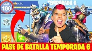 COMPRO PASE DE BATALLA A NIVEL100 EN FORTNITE!!!temporada 6