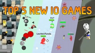 Top 5 NEW IO Games January 2017 BlastArena.io Slain.io SnowFight.io FoodFight.ga Klad.io