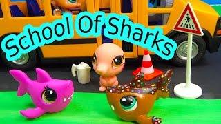 LPS - Saved Seat - School Of Sharks Series Video Movie Littlest Pet Shop Part 8 Cookieswirlc