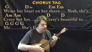 Beautiful Crazy (Luke Combs) Bariuke Cover Lesson with Chords/Lyrics - Capo 4th