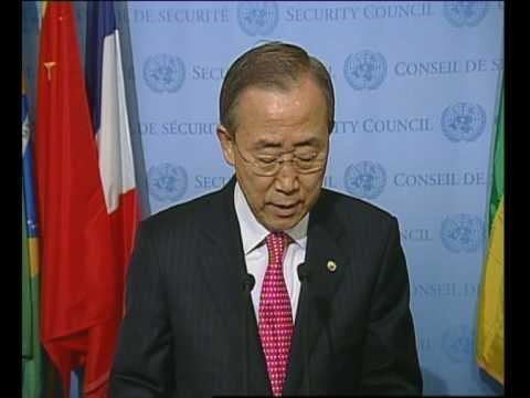 MaximsNewsNetwork: MIDDLE EAST U.N. S-G BAN KI-MOON @ SECURITY COUNCIL (UNTV)
