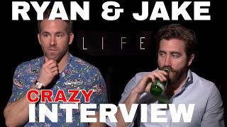 Ryan Reynolds & Jake Gyllenhaal HILARIOUS interview for LIFE film