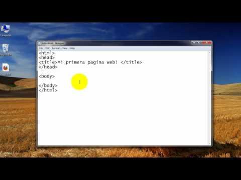 Como crear una pagina web completa en HTML - 1