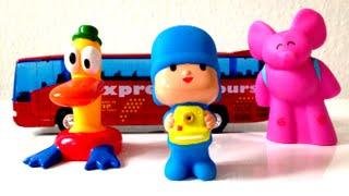 Pocoyo and travel bus