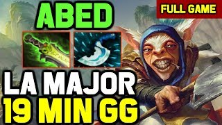 When Abed play his SIGNATURE HERO Meepo in Major Qualifiers - GG in 19 minutes