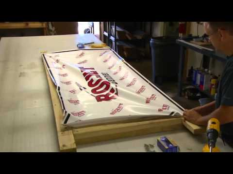 Banner Installation Building a Frame