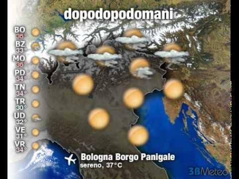Meteo Italia a 3 giorni del 16/08/2011