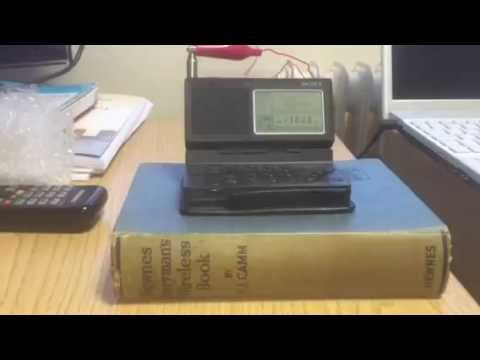 Sony ICF-SW100 + metal window frame antenna: Radio Dabanga 13800 KHz Madagascar