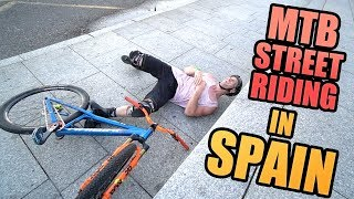 MTB STREET RIDING, MOPEDS AND SURFING IN SPAIN *CRASHES*