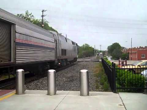 Amtrak 79 In Durham NC With Amtrak 183 4/22/2012