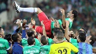 لاعب الوحدات محمود شلباية يسجل هدف في مباراة اعتزاله أمام الجزيرة | مباراة ودية 25-10-2016