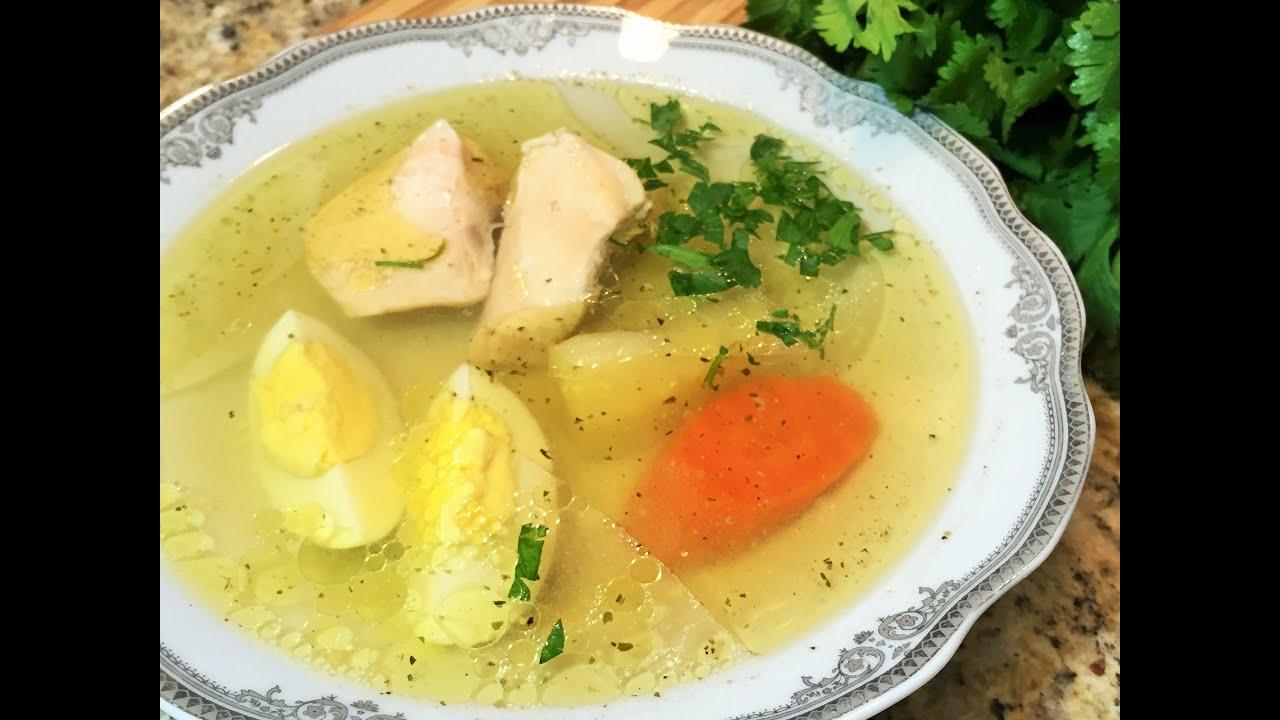 Куриный бульон рецепт с яйцом пошагово