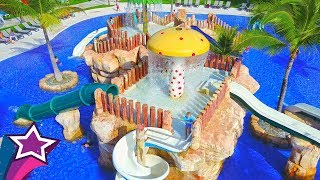 Super Fun Water Park For Kids in Resort Max Plays on Water Slides Johny Johny Yes Papa Nursery Song